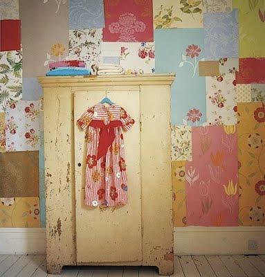 Flea market style baby room