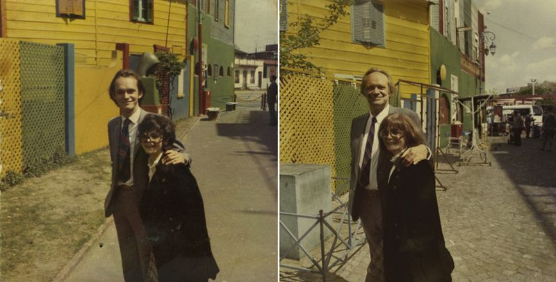 MY PARENTS IN 1970 & 2010, Buenos A
